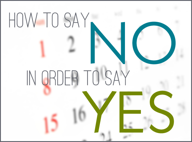 Yes You Can Say 'No'